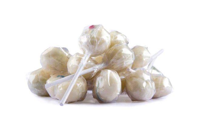 Paletas de caramelo sin azúcar Pinguetas Jimy Puch
