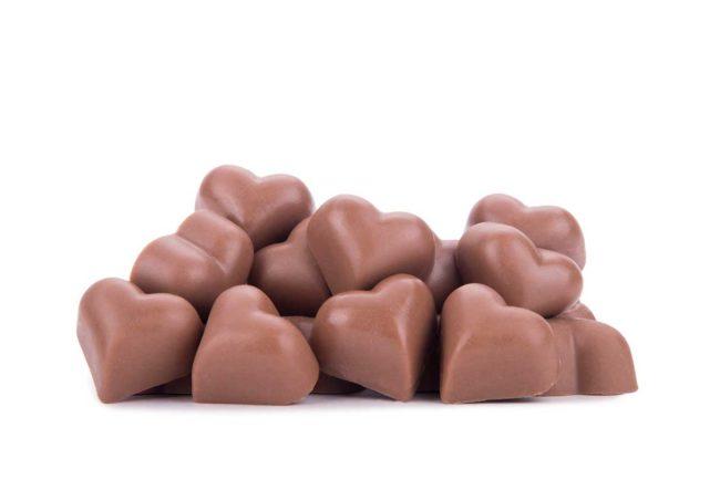 Chocolates Corazón Macizo claro La Giralda