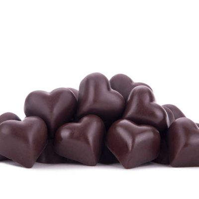 Chocolates Corazón Obscuro Rosa