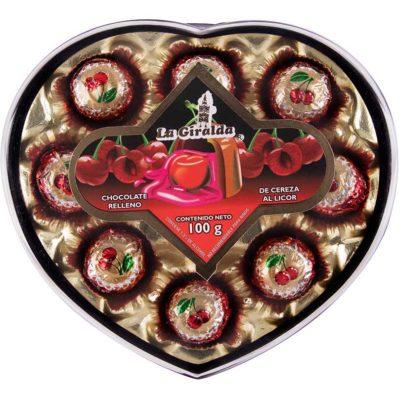 Chocolates en Estuche de Corazón Cereza La Giralda