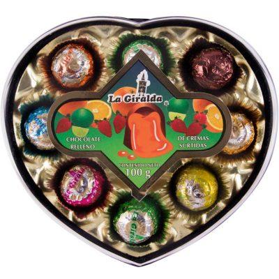 Chocolates en Estuche de Corazón Cremas Surtidas La Giralda