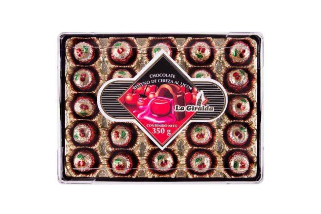 Chocolates en Estuche Rectangular Cereza La Giralda