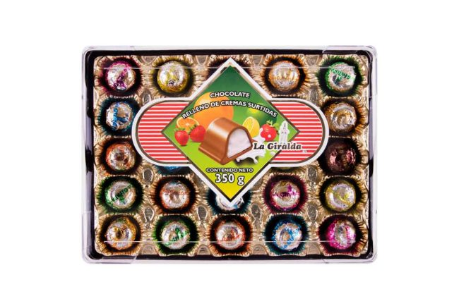 Chocolates en Estuche Rectangular Cremas Surtidas La Giralda
