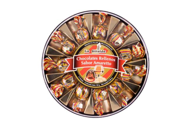 Chocolates en Estuche Redondo Amaretto 11 piezas La Giralda