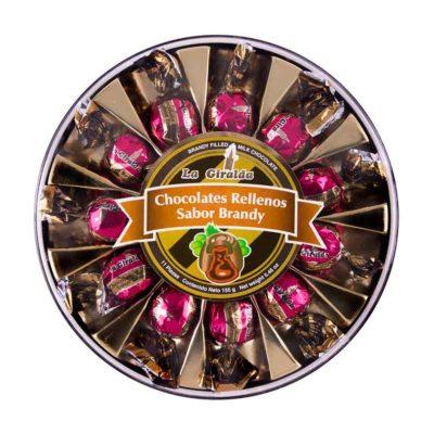 Chocolates en Estuche Redondo Brandy 11 piezas La Giralda