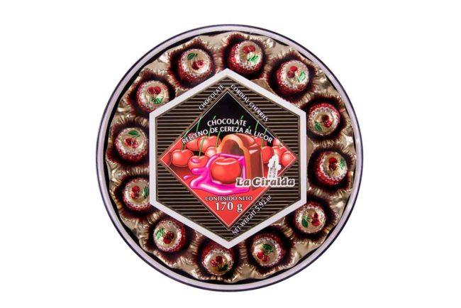 Chocolates en Estuche Redondo Cereza La Giralda