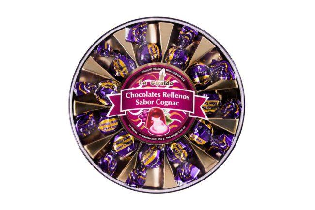 Chocolates en Estuche Redondo Cognac 11 piezas La Giralda