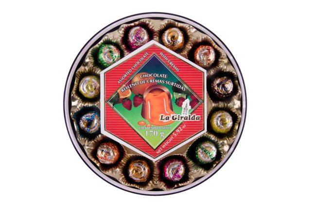 Chocolates en Estuche Redondo Cremas Surtidas La Giralda