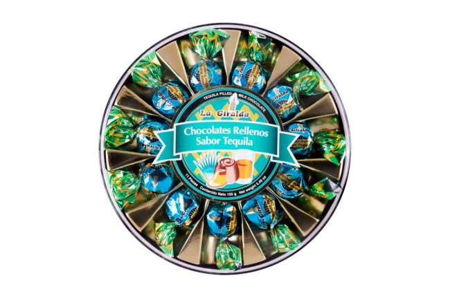 Chocolates en Estuche Redondo Tequila 11 piezas La Giralda