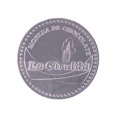 Chocolates Moneda Plateada Grande La Giralda