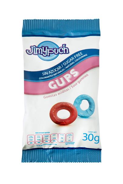 Gomas sin Azúcar Gups Aciduladas Pack Jimy Puch